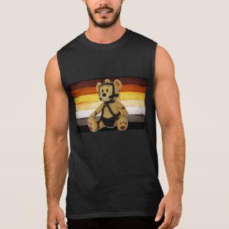 LEATHER BEAR FLAG SLEEVELESS SHIRT