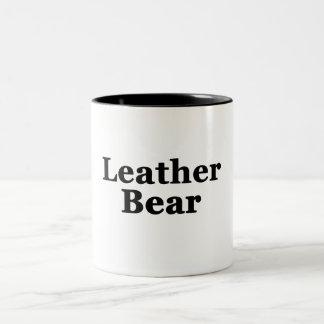 Leather Bear Two-Tone Mug