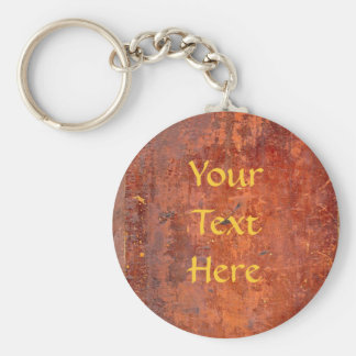 Leather Bound Antique Book Cover Basic Round Button Key Ring