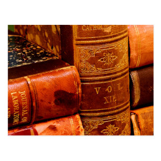 Leather Bound Books Postcard