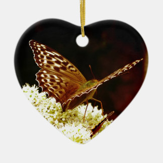 Leather Brown, Tan & Chocolate Coloured Butterfly Christmas Ornament