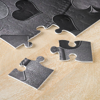 Leather Card Suits Shapes Jigsaw Puzzle
