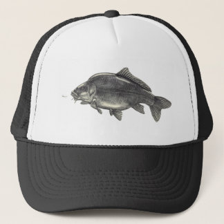 Leather Carp Fishing Trucker Hat