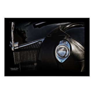 """Leather Chaps"" Classic Car 13x19-inch Fine Art Poster"