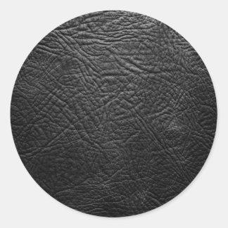 Leather Classic Round Sticker
