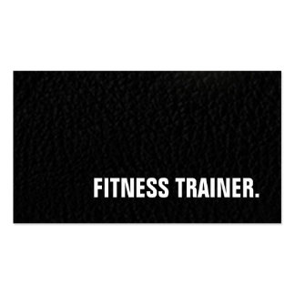 Leather Effect Unique Special Grey Fitness Trainer Pack Of Standard Business Cards