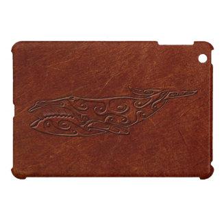 Leather Embossed Tribal Whale Art Print iPad iPad Mini Case