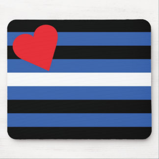 Leather Flag (traditional) Mouse Mat