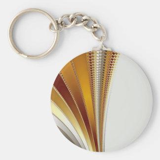 Leather - Fractal Keychain
