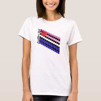Leather Girl Stepping Stones T-Shirt