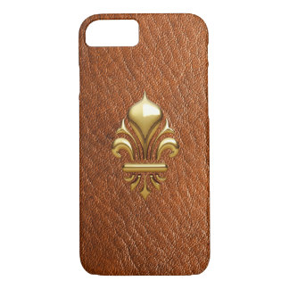 LEATHER GOLD FLEURON 1 Print Barely iPhone 7 Case