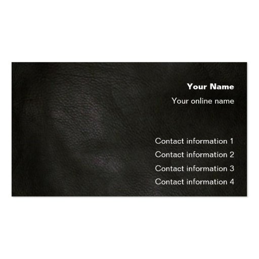 Leather Grain Trick card / Business Card