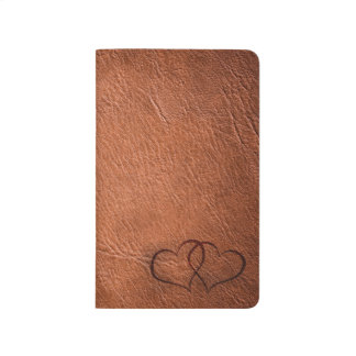 Leather Hearts - Brown - Note Book