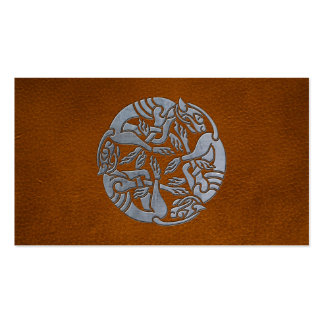 Leather Iron Celtic Dog Pack Of Standard Business Cards