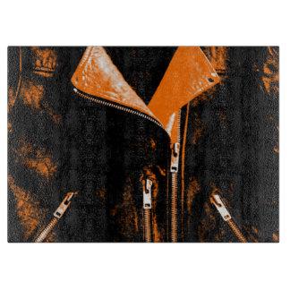 Leather Jacket Orange cutting board