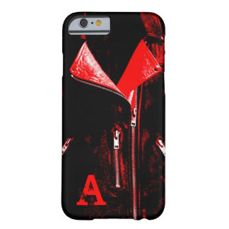 "Leather Jacket Red ""Monogram"" iPhone 6 case"