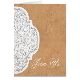Leather & Lace Western Wedding Invitation CARDS