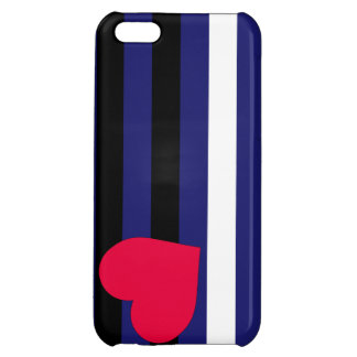 Leather Latex and BDSM Pride Flag Cover For iPhone 5C