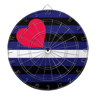 Leather Latex and BDSM Pride Flag Dart Boards