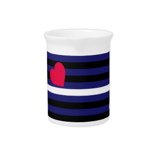 Leather Latex and BDSM Pride Flag Drink Pitchers