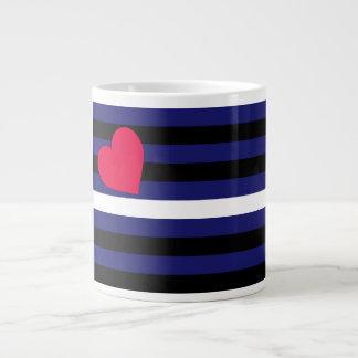 Leather Latex and BDSM Pride Flag Jumbo Mug