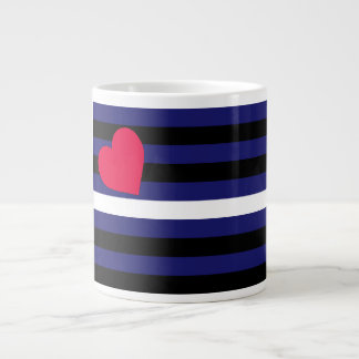 Leather Latex and BDSM Pride Flag Large Coffee Mug