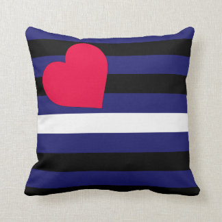 Leather Latex and BDSM Pride Flag Throw Cushion