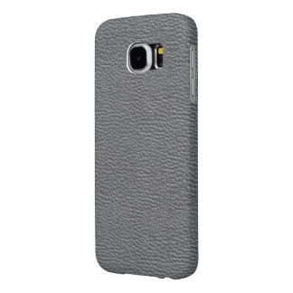 Leather like grey samsung galaxy s6 cases