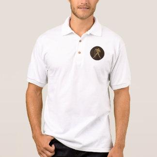 Leather-Look Aquarius Polo Shirt