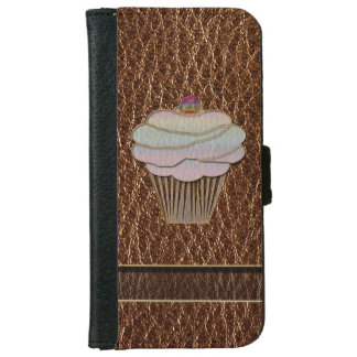 Leather-Look Baking iPhone 6 Wallet Case