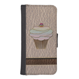 Leather-Look Baking Soft Phone Wallets