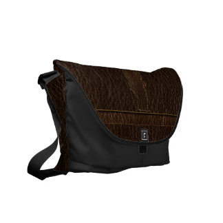 Leather-Look Black Bear Dark Courier Bags