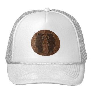 Leather-Look Black Bear Hats