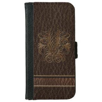 Leather-Look Bouquet 1 Dark iPhone 6 Wallet Case