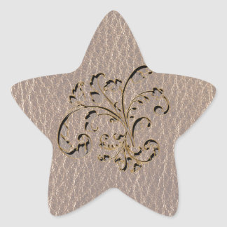 Leather-Look Bouquet 2 Soft Star Sticker