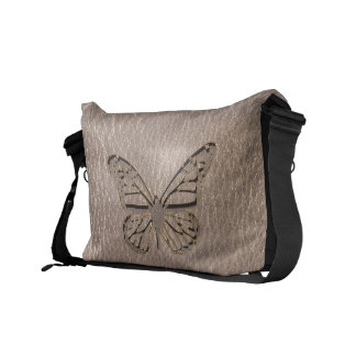 Leather-Look Butterfly Soft Courier Bags