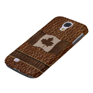 Leather-Look Canada Flag Galaxy S4 Case