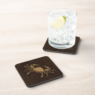Leather-Look Cancer Coasters