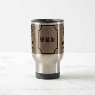 Leather-Look Eagle Soft Stainless Steel Travel Mug