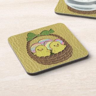 Leather-Look Easter Basket Drink Coasters