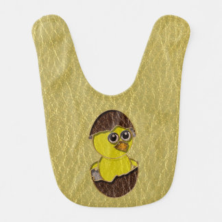 Leather-Look Easter Chicken Bib