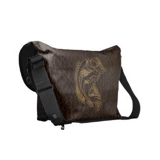 Leather-Look Fish Dark Commuter Bag
