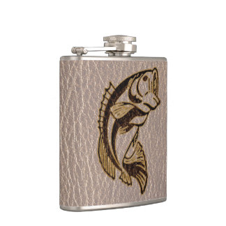 Leather-Look Fish Soft Hip Flask