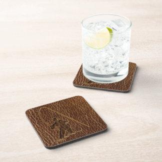 Leather-Look Fisherman Beverage Coasters