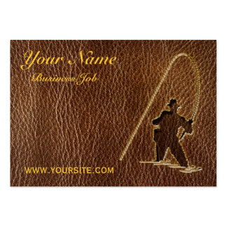 Leather-Look Fisherman Business Cards