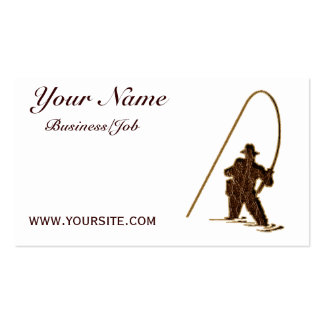 Leather-Look Fisherman customized Business Cards