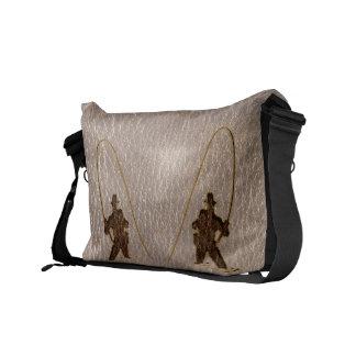 Leather-Look Fisherman Soft Messenger Bag