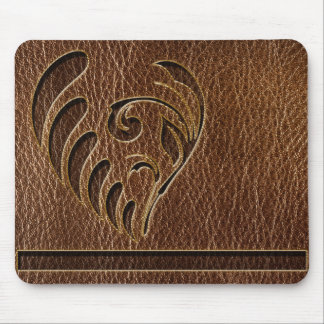 Leather-Look Flower Mouse Mat