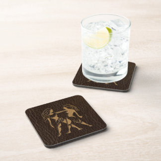Leather-Look Gemini Drink Coaster
