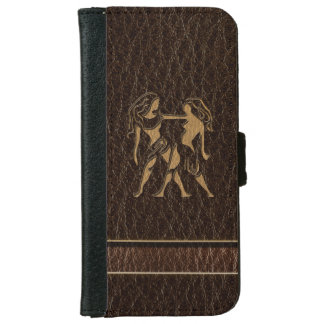 Leather-Look Gemini iPhone 6 Wallet Case